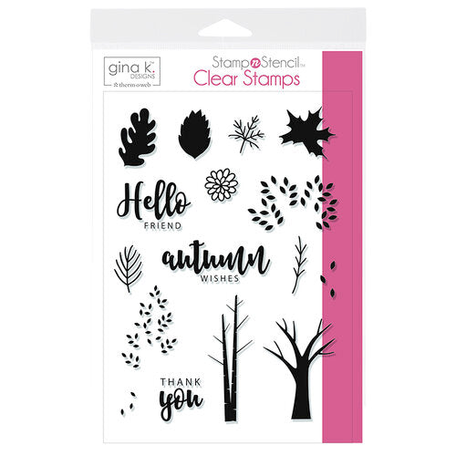 Autumn Wishes Stamp n Stencil clear stamps