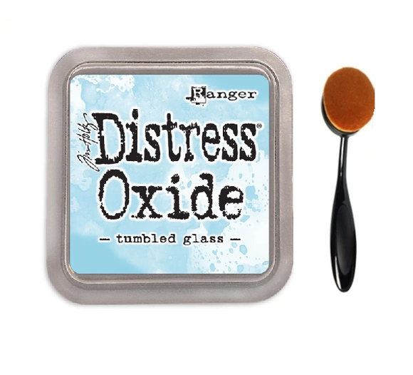 Tumbled Glass Distress Oxide Ink Pad & 1 Blending Brush