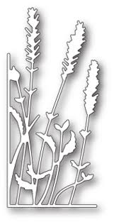 99636 Small Lavender Stems Left Corner craft die