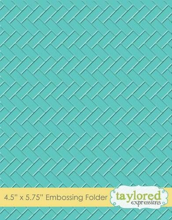 Taylored Expressions - Herringbone Embossing Folder
