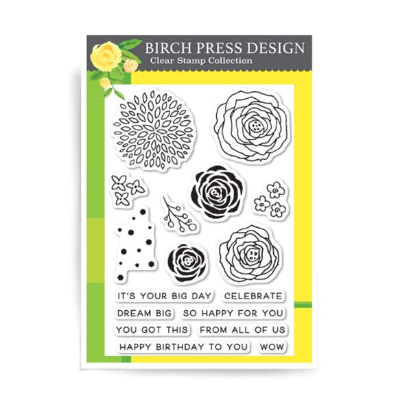 CL8119 Time to Celebrate Clear Stamp Set