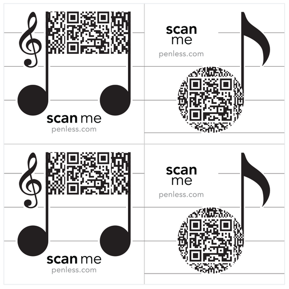 Penless Musical Notes Sticker Pack
