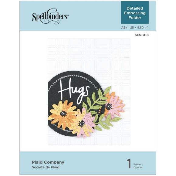 SES-018 Plaid Company Embossing Foler by Spellbinders
