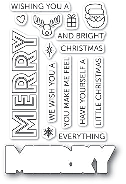CL465 Merry Everything clear stamp set