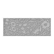 SES-017 Slimline Flora Detailed Embossing Folder