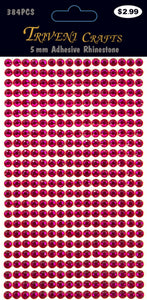 STIK-218 Rhinestone Dot Stickers - 5mm - Light Pink