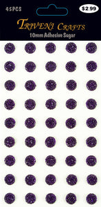 STIK-483 Rhinestone Sugar Stickers - 10mm - Purple