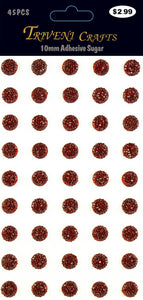 STIK-486 Rhinestone Sugar Stickers - 10mm - Red