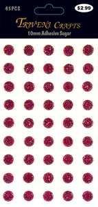STIK-489 Rhinestone Sugar Stickers - 10mm - Pink