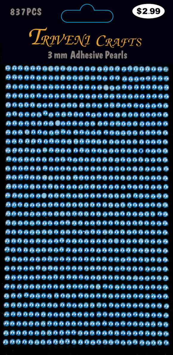 STIK-524 Pearl Dot Stickers - 3mm - Blue