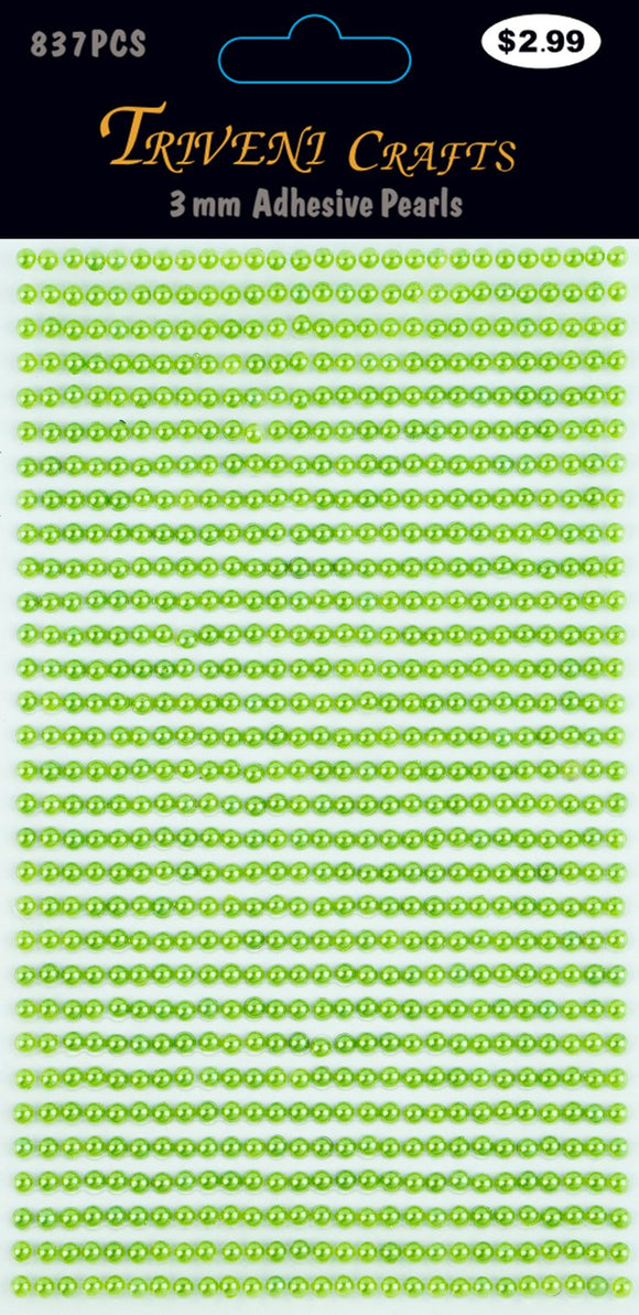 STIK-528 Pearl Dot Stickers - 3mm - Emerald