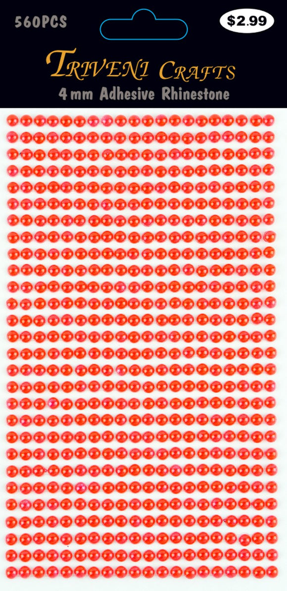 STIK-530 Pearl Dot Stickers - 4mm - Red