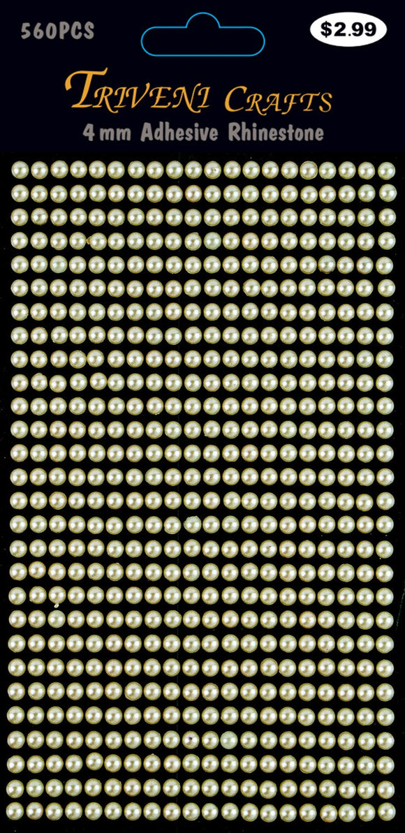 STIK-532 Pearl Dot Stickers - 4mm - Beige