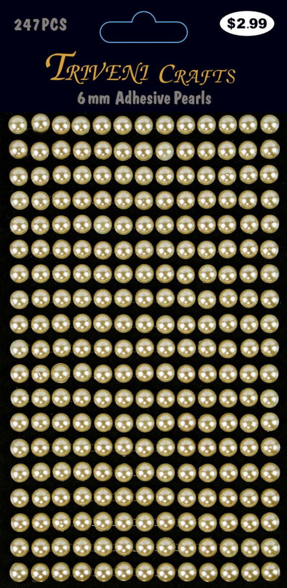 STIK-541 Pearl Dot Stickers - 6mm - Beige