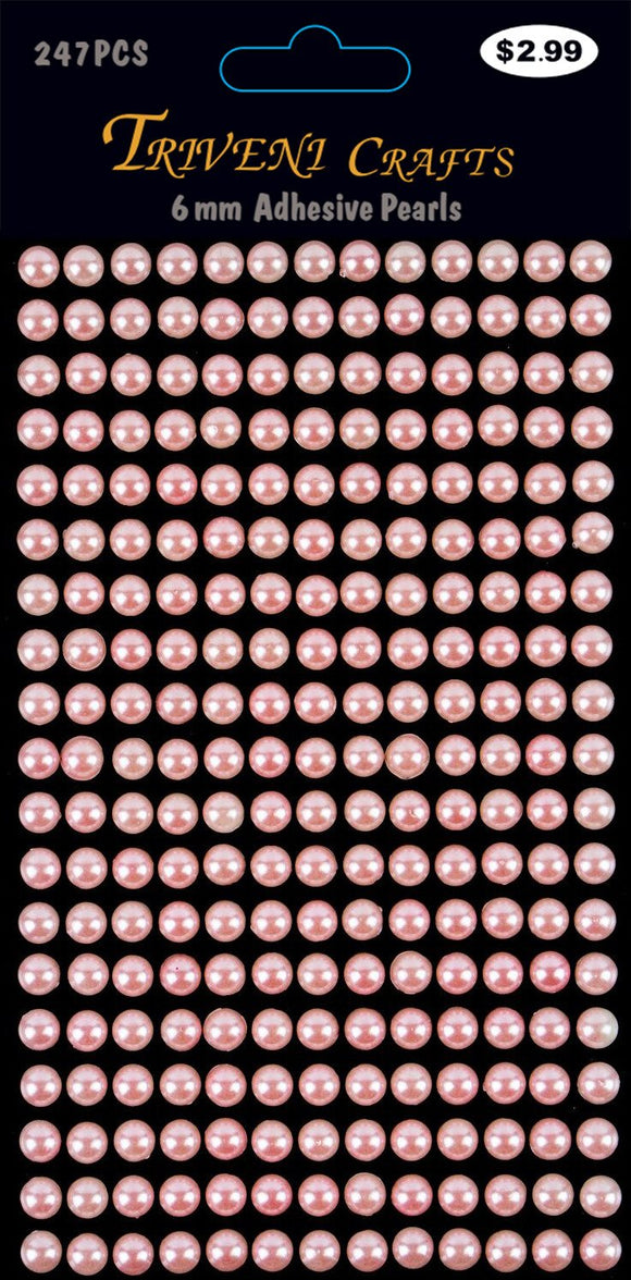 STIK-543 Pearl Dot Stickers - 6mm - Pink