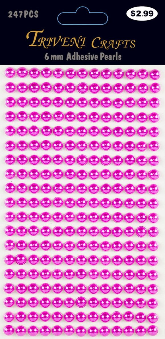 STIK-544 Pearl Dot Stickers - 6mm - Fuchsia