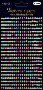 STIK-607 AB Pearl Stickers - 4mm - Multi