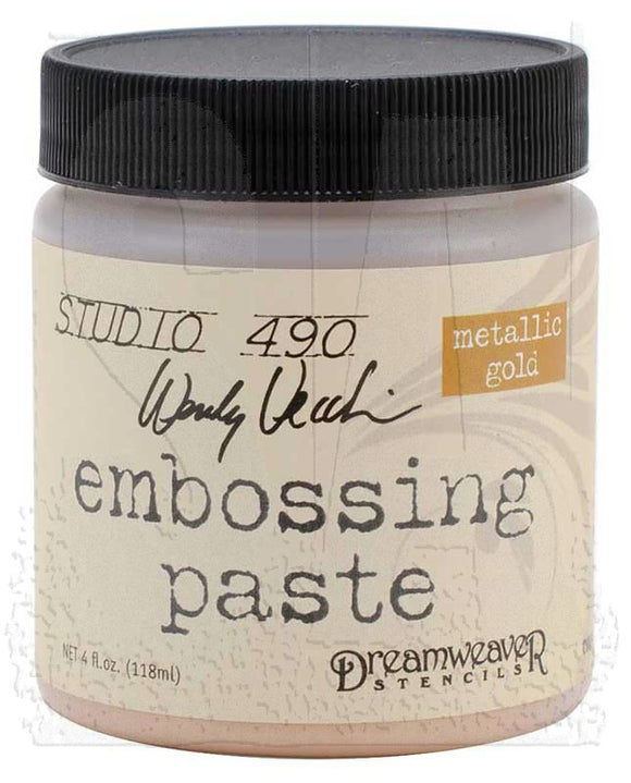 Studio 490 Embossing Paste - Metallic Gold