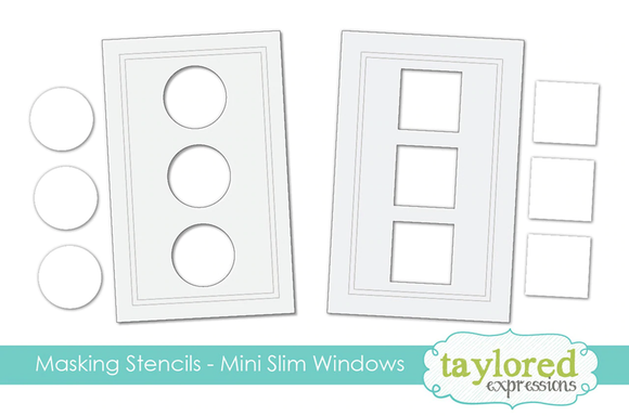 Taylored Expressions - Masking Stencils Mini Slim Windows