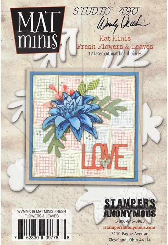 WVMM18 Mat Minis Fresh Flowers & Leaves