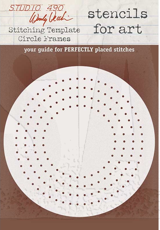 WVSFA054 Stitching Template Circle Frames