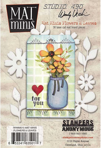 WVMM015 Mat Minis Flowers & Leaves
