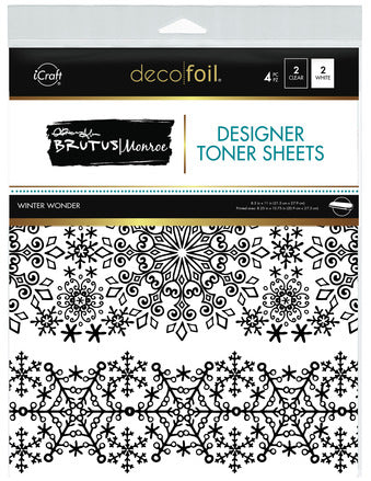 Deco Foil™ Clear Toner Sheets •  Winter Wonder