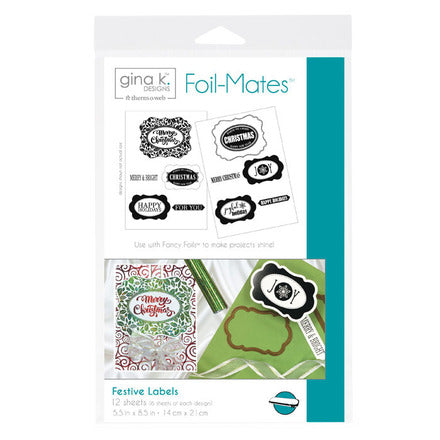 18059 Foil-Mates™ Sentiments • Festive Labels