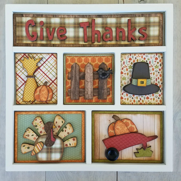 Foundations Decor Shadow Box Kit - Thanksgiving