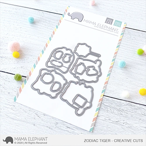 Mama Elephant Zodiac Tiger Creative Cuts
