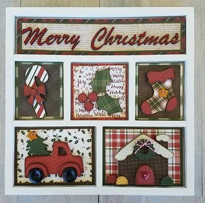 Foundations Decor Shadow Box Kit - Merry Christmas