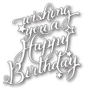 99731 Happy Birthday Elegant Script craft die