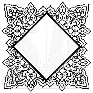 WVBG050 Square Doily Background Stamp
