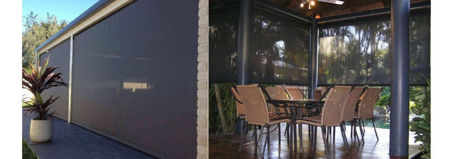 Outdoor patio blinds - Ozrite Awnings Outdoor Blinds Brisbane Shade Bistro