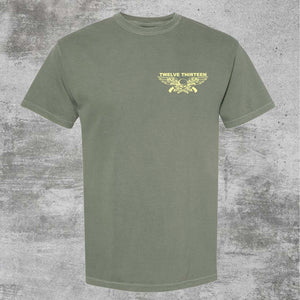 """Loaded"" T-Shirt - Aged Green"