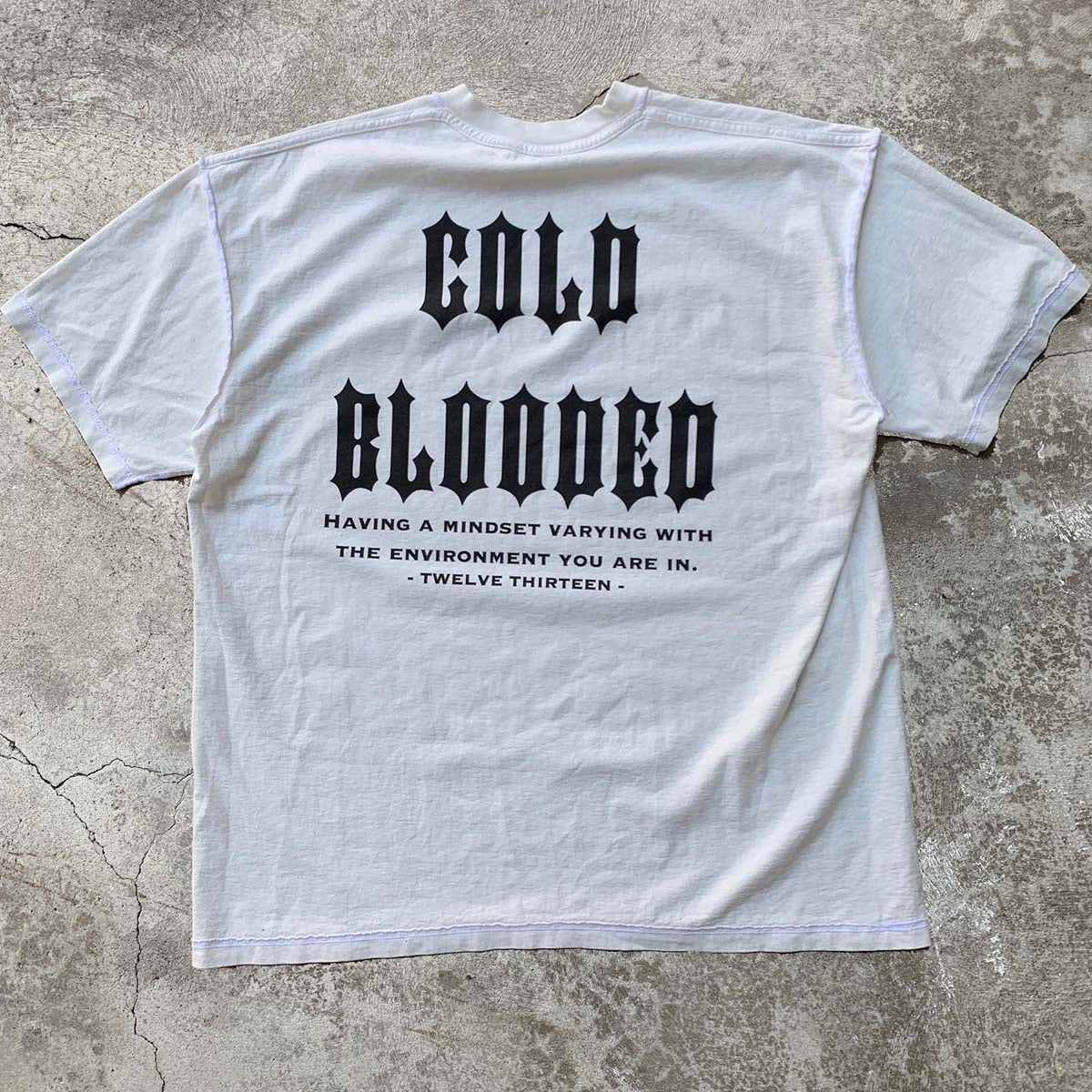 """Cold Blooded"" T-Shirt - Aged White"