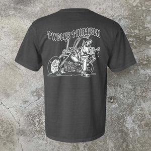 """Chopper"" T-Shirt - Wet Cement"
