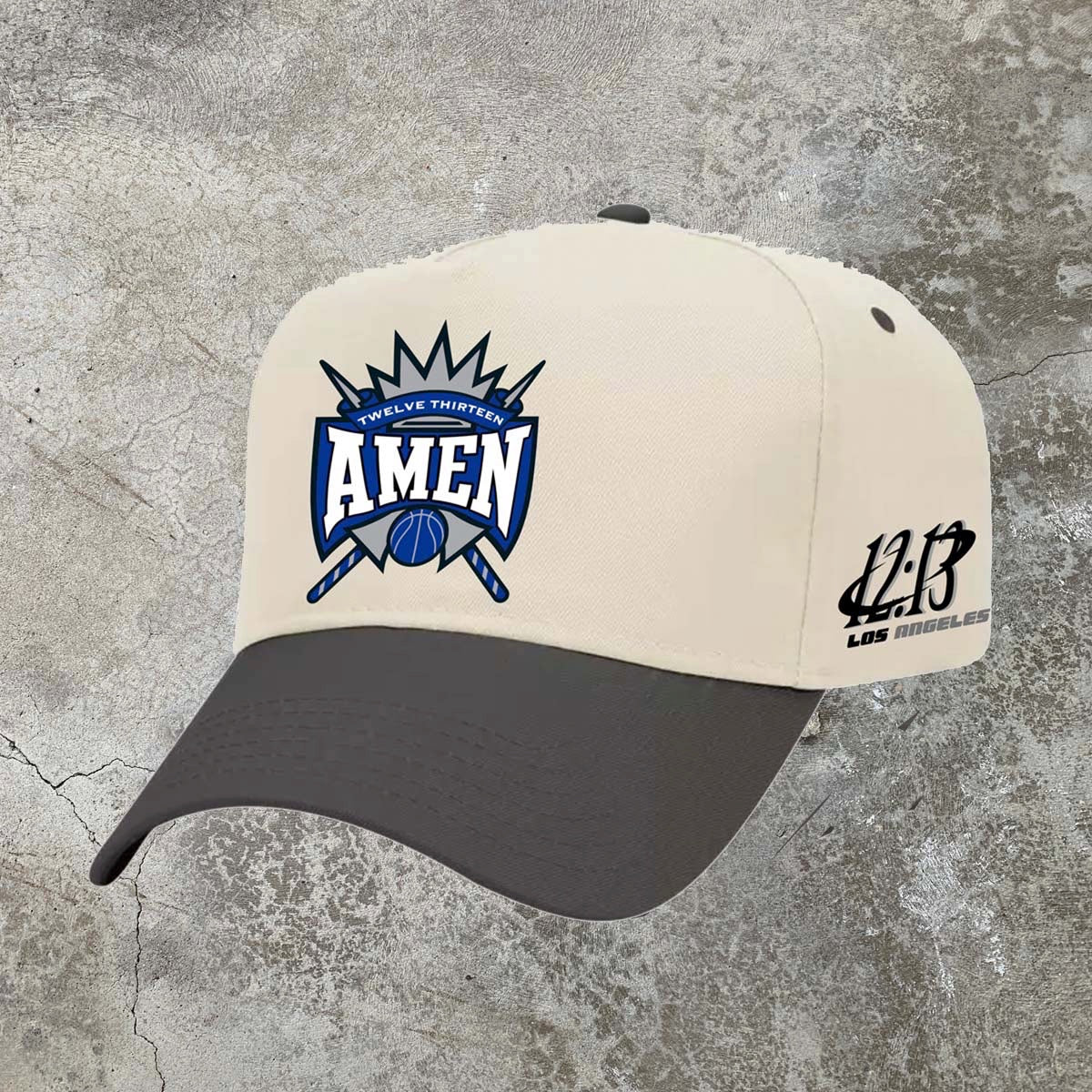 Amen Snapback - Cream/Black