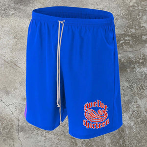 Paisley Swim Shorts - Blue