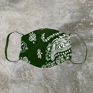 Paisley Mask w/ Filter - Army Green