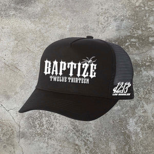Baptize Trucker Hat - Black