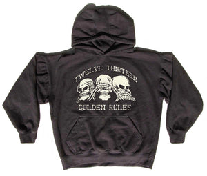 """Golden Rules"" - Oversized Cropped Hoodie"