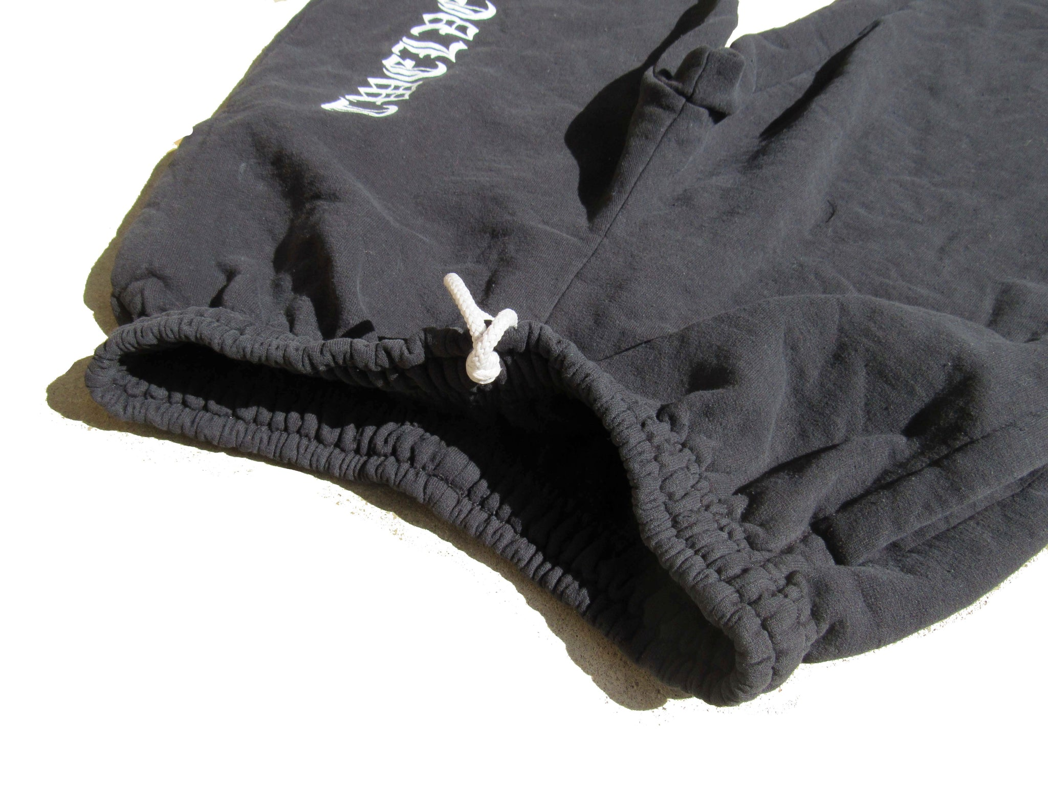 Stone Washed Covered Sweatpants - Black (Size Small - SAMPLE)