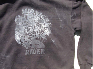 "Oversized Cropped Hoodie ""Midnight Rider"" - Sample Size M"