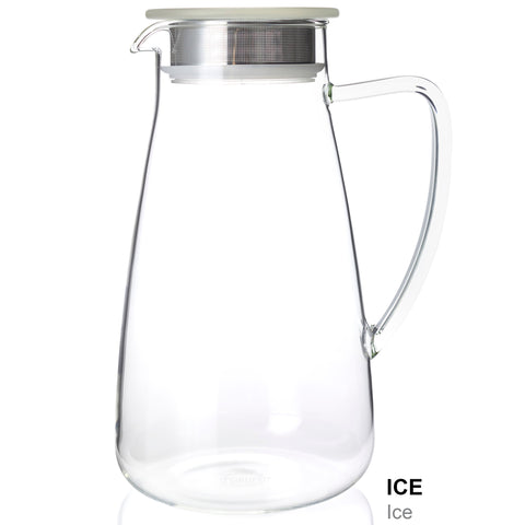Flask Glass Iced Tea Jug - Holds approx. 2 Qts
