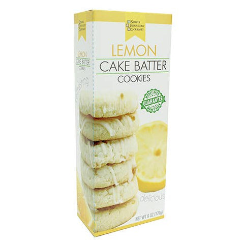 Lemon Cake Batter Cookies