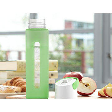 Modern Flip Straw Glass Water Bottle - (18 oz.) More Colors