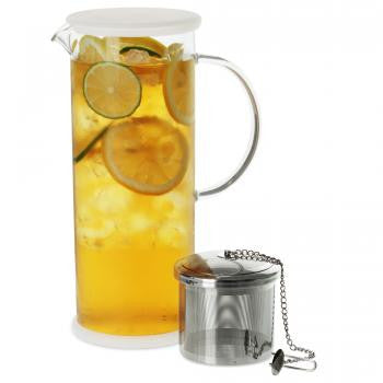 Lucent Glass Iced Tea Jug w/ Capsule Infuser (48 oz./1420 ml.)