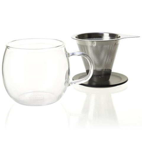 Lucidity Brew-in-Cup with Stainless Infuser & Lid (12 oz.) 2 Colors