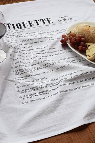 Tea Towel - Etiquette